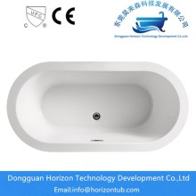 Acrylic Oval Shaped Free Standing Bath Tub