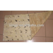 cross mink back paw fur plate