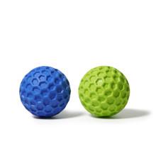 Bola de golfe de borracha durável para mastigar cachorro