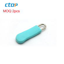 Wholesale silicone cover custom stock rubber pvc for suitcase zipper head bag zipper slider zip puller rubber