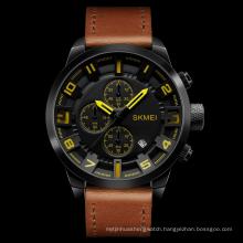 SKMEI 1309 Men Casual Custom Analog Watch Waterproof Quartz Leather Wrist Watches