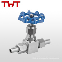 "High pressure 1/4""-1"" adjustable straight 6000 psi ss needle valve"
