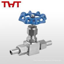 """Válvula de agulha reta ajustável de 6000 psi ss de alta pressão 1/4 """"-1"""""""