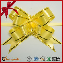 PP Golden Line Wired Ribbon Butterfly Pull Bow