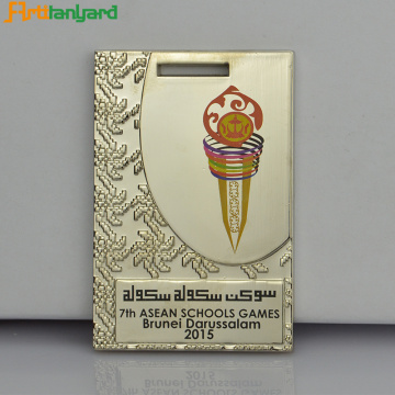 Metal Medal with Gold Plating