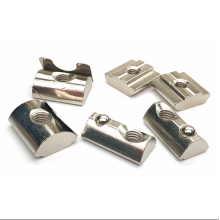 20 Series  Zinc Alloy Half Round Roll in Ball Spring T Slot Nuts For CNC Part  Nuts