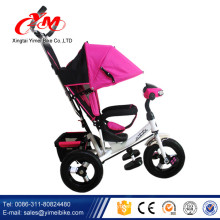 pink 12 inch tricycle for children with handle AND pedals/baby sport trike/kiddo tricycle