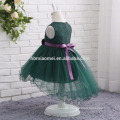 2017 new fashion colorful western party wear dress sleeveless laced 2 year old girl dress for wedding party