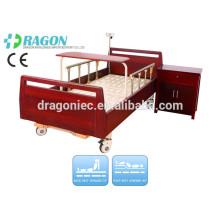 DW-BD188 lits réglables électriques uk haute densité en bois lit de soins infirmiers manuel avec deux fonctions pour l'équipement médical