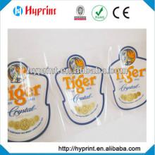 Direct manufacture printing custom self-adhesive transparent labels