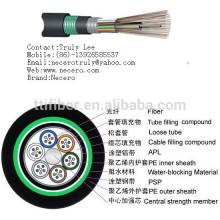 Gute Qualität 12 Kerne Einzelmodus im Freien G652D FRP Stärke GYTA gepanzerte Faser optische Kabel Meter Preis