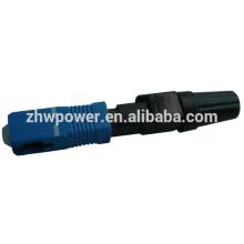 Sc conector rápido upc, conector rápido eléctrico, conector óptico de fibra óptica upc