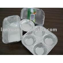 finas tortas de envase del papel de aluminio