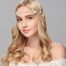 Handmade Designer Elastic Headband Wedding Bride For Women Girl Luxury Hair Accessories Pearl Crystal Hairband Feast Party