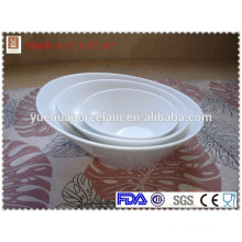 2015 hot sale porcelain white ceramic angle bowl