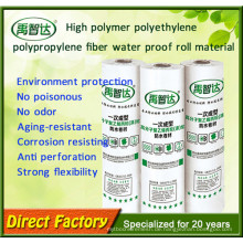 Neue Bedachungsmaterialien Hohe Polymer-Polyethylen-Imprägnierungsmembran Made in China