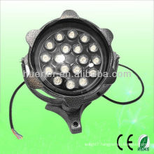 High quality good price Landscape lighting with CE RoHS 85-265v 100-240v led round flood light rgb 18w