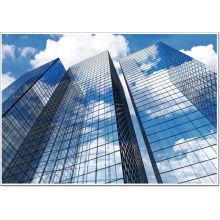 \ Frameless de bajo costo de rascacielos de vidrio de la pared de cortina de instalación