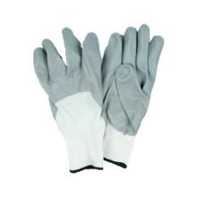 13G Nylon / Polyster Liner guante de trabajo con nitrilo revestido