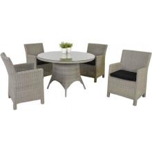 Открытый сад мебель из ротанга Wicker патио обеденный набор