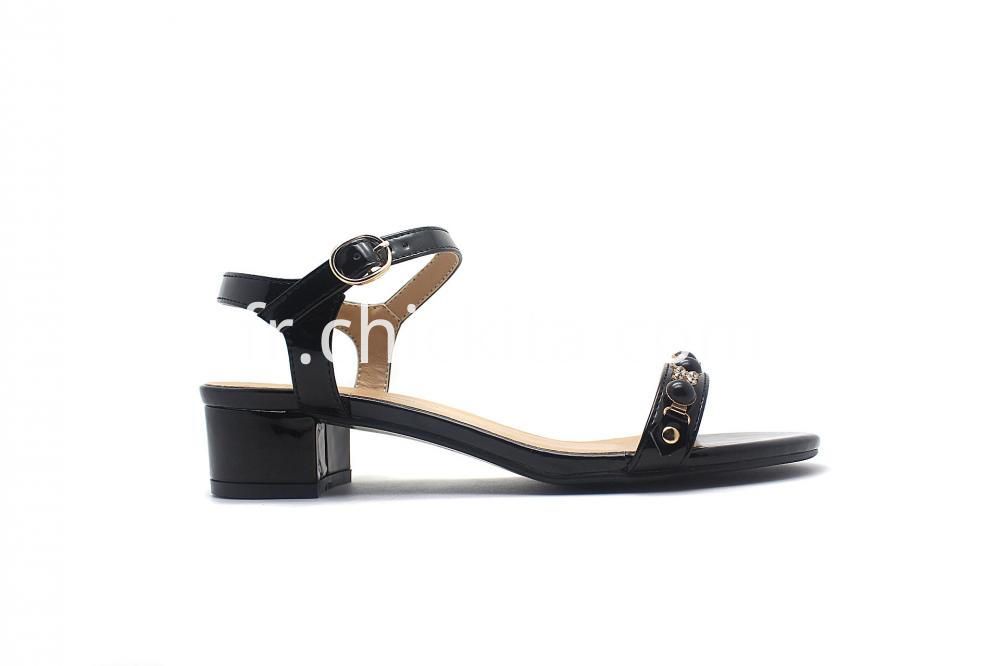 Women 2 Piece Jewel Low Heel Sandal