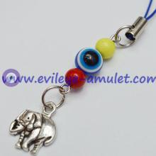 Turkish Blue Evil Eye Elephant Phone Charm Pendant