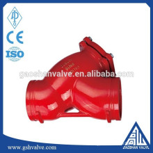 ductile cast iron grooved strainer
