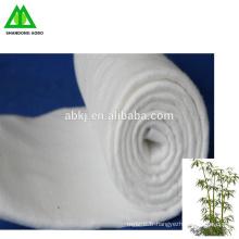 Feutre / ouate de fibre de bambou perforé à l'aiguille naturelle
