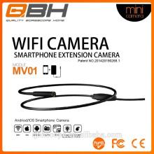 extensão wi-fi smartphone mini pinhole usb câmera de inspeção