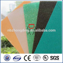 2015 new design dimond polycarbonate embossed textured lexan pc sheet