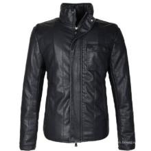 Модный зимний 15PKPU01 2017 высокое качество мужская PU куртка