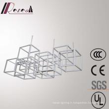 Lampe pendante moderne européenne d'acier inoxydable de cadre de Polygon blanc