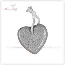 Piedra pómez en forma de corazón en forma de pie