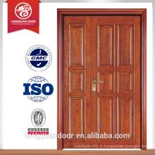 Vente chaude portes portes ouvertes à une et demie portes ouvrent la porte en contreplaqué