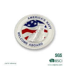 Недавно США Посеребренная полиции сувенир вызов монета
