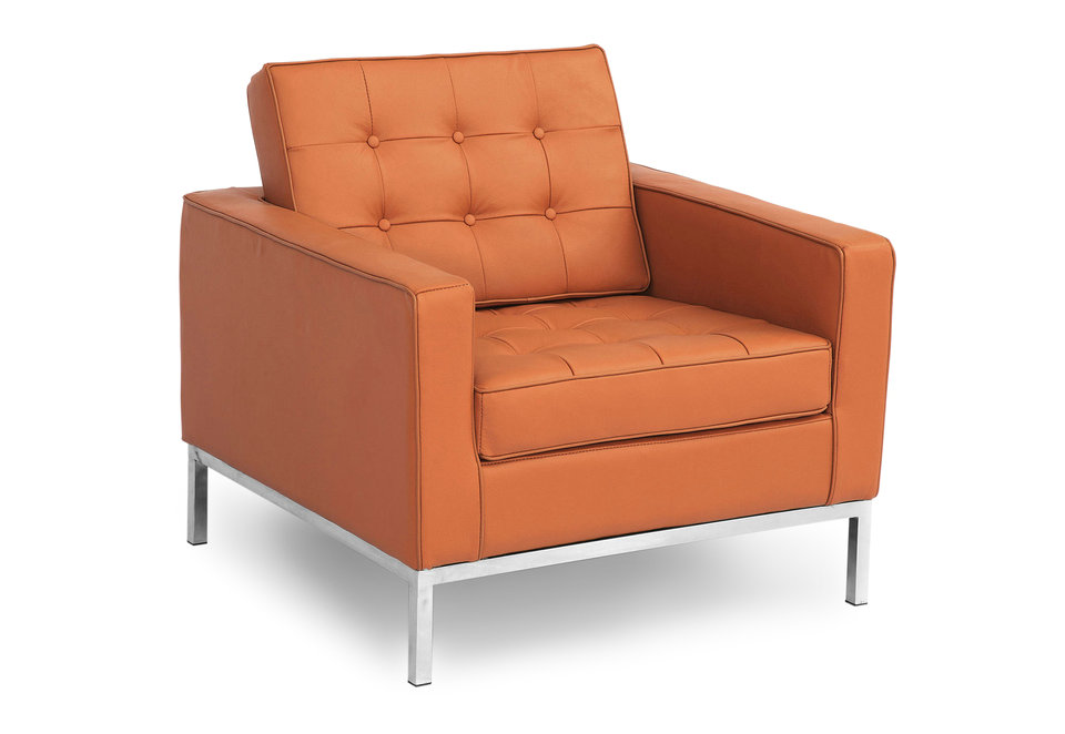 Single leather sofa