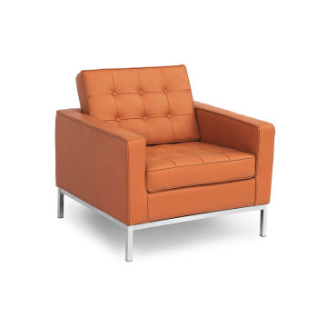 Florence knoll replica single lederen sofa