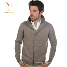 Mens Thick Cashmere Cardigan Coat with buttons for Winter