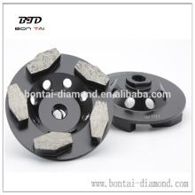 Hexogan segmento diamante de la Copa de la rueda para moler el piso de hormigón