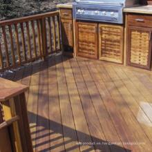 Decking natural de madera sólida para el patio al aire libre