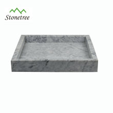 square natural stone marble tray