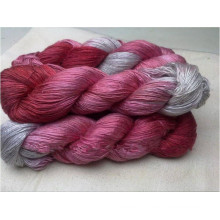 100% Mulberry Dyed Silk Yarn for Hand Knitting