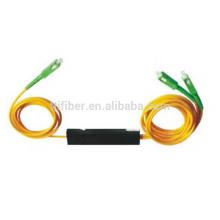 2,0mm 1x2 fbt acoplador / divisor de fibra de fibra multimodo coelho