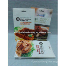 Vegetarian sausages side-gusset packaging bags