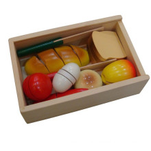 Детские деревянные велкро резки хлеба игрушки