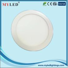 6 pulgadas 12w cubierta de aluminio CE empotrado LED delgado panel de luz LED Downlight