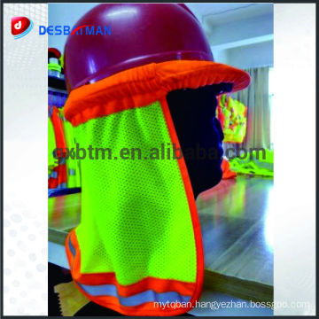 High quality reflective helmet sun shade hi-vis safety hard hat neck shade