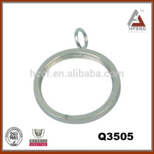 curtain rod accessories, flat rings with inlay