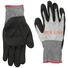 Nouveau gant résistant aux coupures enduit de nitrile de protection de sécurité avec la paume plongeante de nitrile de Sandy