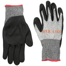 New Safety Protection Nitrile Coated Cut Resistant Glove with Sandy Nitrile Dip Palm